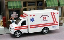 Kinsfun Display Rescue Team 13cm Ambulance and Fire Department Truck 2pc Set