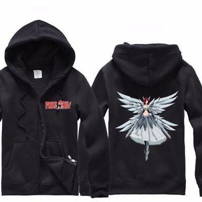 Fairy Tail Erza Scarlet Anime Hoodie Sweatshirt Cosplay Coat Jacket Costume SIZE