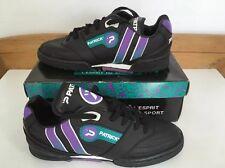 vintage PATRICK Marauder Football Trainers Soccer Shoes UK 4 Eu 37 Black OG BNIB