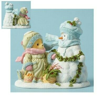SNOWMAN WINTER CHERISHED TEDDIES 2014 FIGURINE ARLIS NIB SNOW 4040465