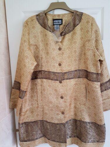 Long Sz Fabulous Indigo 51 Moon Broderi Jacket Bust 1xl Guld Bronze 5qwgt6w