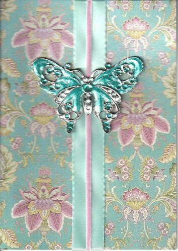 TURQUOISE BUTTERFLY CARD MSRP $9.95 P26 PAPYRUS MOTHERS DAY CARD NIP
