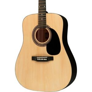 Rogue Ra 090 Dreadnought Acoustic Guitar Natural by Rogue