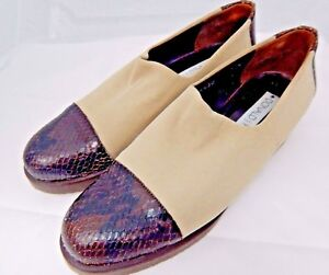 Donald-J-Pliner-Beige-amp-Brown-Loafers-Shoes-Size-7-5-N-Made-in-Spain