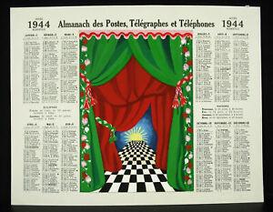 Project-Original-Calendar-Ls-Fd-1944-with-Gouache-Wisden-of-Posts