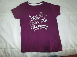 Tee-shirt-Violet-a-strass-MC-T6ans-marque-Sport-Way-neuf
