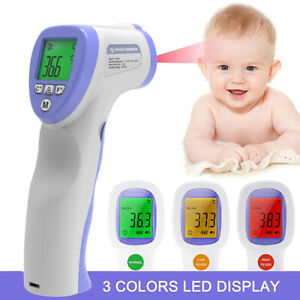 No Touch Infrared Digital Forehead Thermometer Baby Adult Body Temperature Guns