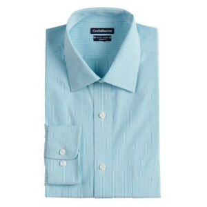 Men-039-s-Croft-amp-Barrow-Regular-Fit-Easy-Care-Spread-Collar-Dress-Shirt-18-17-16