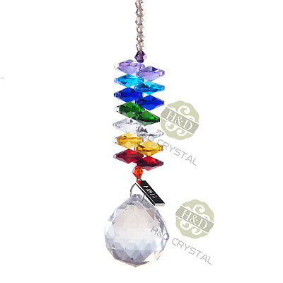 Rainbow Maker Crystal Suncatcher Chandelier Ball Prism Pendulum Pendant Decor