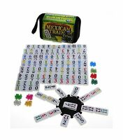 Mexican Train Double 12 Dominoes _ Travel Size _with Colored Nu... Free Shipping