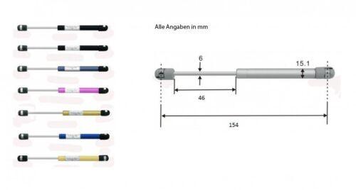 Gasdruckdämpfer Gasdruckfedern Gasfeder 154mm 150N mattschwarz 8297