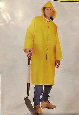 MCR Safety Classic Raincoat Yellow 35 mil 2 piece 49 inch Size S-6XL Stay Dry!