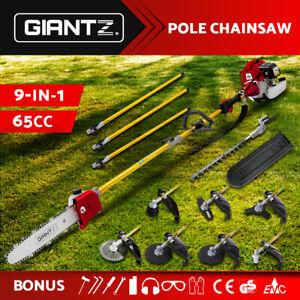 Giantz 65CC Pole Chainsaw Hedge Trimmer Whipper Brush Cutter Pruner Snipper Long