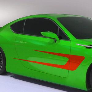 2x Sport Dekor Seitenstreifen Aufkleber Streifen Dekorstreifen Auto