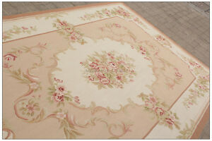 Image Is Loading 8x10 Shabby French Chic Aubusson Rug Light Pink