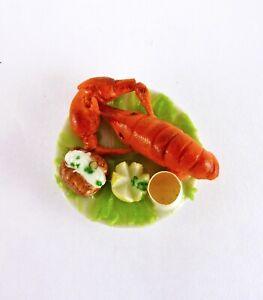 Dollhouse-Miniature-Lobster-Dinner-Feast-F272