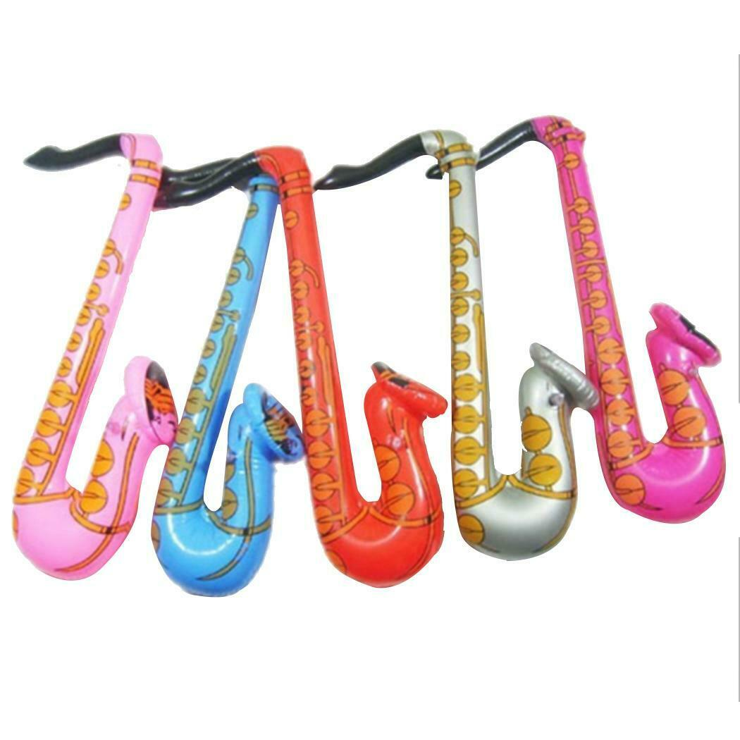 Blow Up Inflatable Large 70cm Saxophone Music Jazz Party Fancy Dress Prop Toy