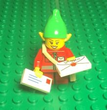 Lego Christmas Elf Mail Letter Envelope Post Office Carrier Delivery Mini Figure
