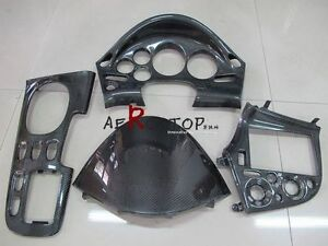 Image Is Loading 4PCS CARBON FIBER RHD INTERIOR FOR 92 97