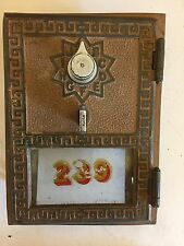Antique US Grecian Key Post Office PO BOX Brass Door Combination Lock 103