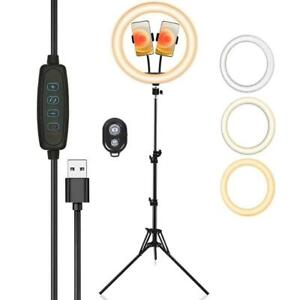 All New 12 inch LED Ring Light with Tripod and Dual Phone Holders Great for Zoom, Youtube, TikTok, Twitch. Canada Preview