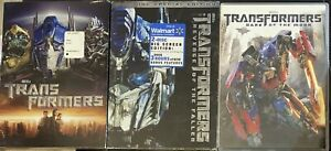 (3) Transformers DVD Lot Transformers Revenge of the Fallen & Dark Of The Moon