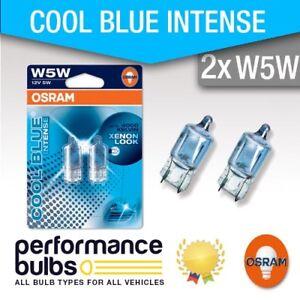 CITROEN-C2-03-gt-Number-Plate-Light-Bulbs-W5W-501-Osram-Halogene-Cool-Bleu-5-W