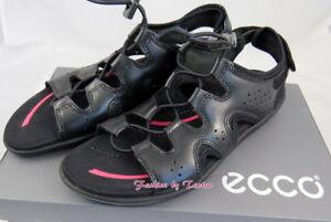 Details zu New in Box Womens ECCO BLUMA TOGGLE SANDAL BLACK