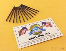 Drill Hog USA #3 Drill Bit Number Bit #3 MOLY M7 Lifetime Warranty USA 12 Pack