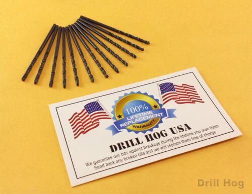 #44 Drill Bit #44 Number Bit HI-MOLY M7 Lifetime Warranty Drill Hog USA 12 Pack