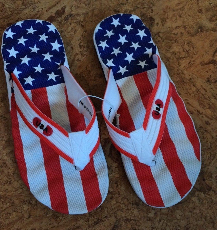 World Cup Inspired Soccer Sandals Flip Flops Beach Soccer Inspired USA Sizes 8-13 8cc1d4