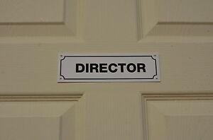 Image is loading Director-Door-Wall-Sign-Sticker-Office-Business-Management- & Director Door Wall Sign Sticker Office Business Management Name size ...