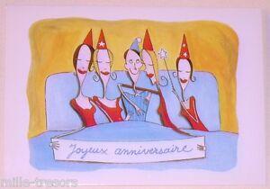 Cp Fantaisie Illustration Eric Turlotte L Anniversaire Joyeux