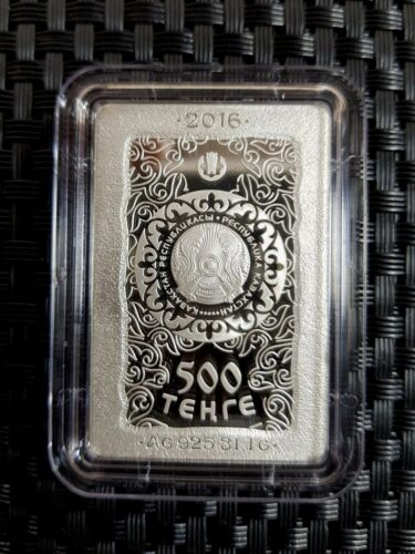 Kazakhstan 500 Tenge  KULTEGIN 2016 silver coin+box  1oz Proof