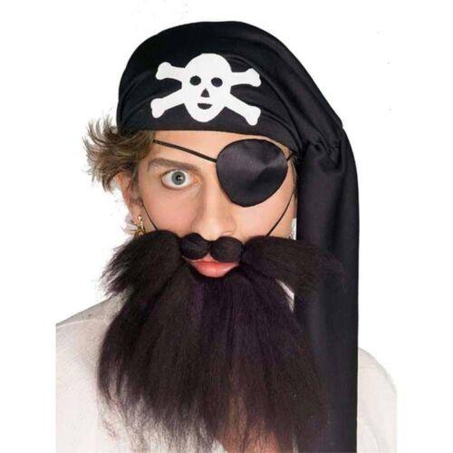 Pirate *BROWN* Beard and Mustache Caveman Hillbilly Biker Old Man Elf Costume