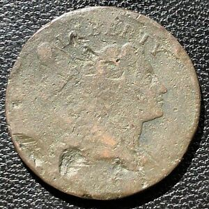 1796 Large Cent Liberty Cap Flowing Hair One Cent Circulated Rare #15422