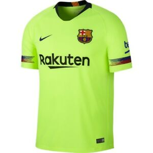 nike fc barcelona season 2018 2019 away soccer jersey brand new volt yellow ebay details about nike fc barcelona season 2018 2019 away soccer jersey brand new volt yellow