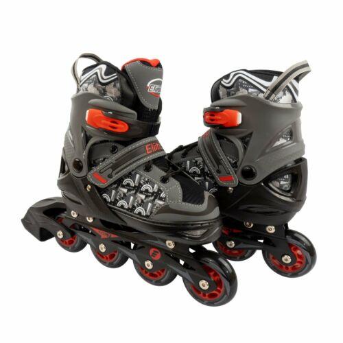 Eliiti Kids Inline Skates for Girls Boys Size 13J to 9 Adjustable Roller Blades