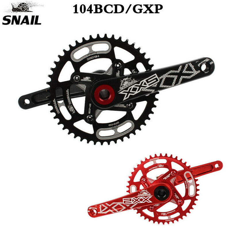 SNAIL 104BCD  MTB Bike Crankset Aluminum Alloy 170mm Crank 44-52T Chainring BB  order now with big discount & free delivery