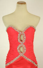 NWT Jovani Size 8 Prom Formal Evening Long $440 Mermaid Watermelon Gown Dress