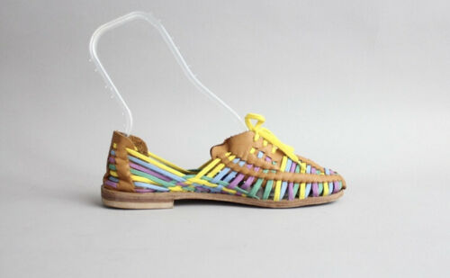 MIISTA Multicolor Leather Huarache Sandals Oxfords