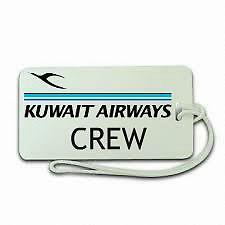 Novelty Airline, Aeroplane Luggage Crew Tags - Kuwait Airways Crew
