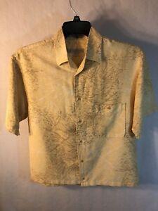 Geoffrey-Beene-Short-Sleeve-Button-Down-Men-039-s-Shirt-Size-Small