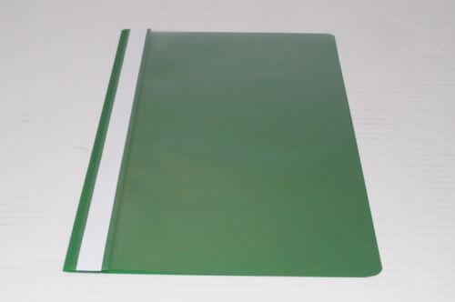 Schnellhefter Schulhefter mit Beschriftungsstreifen grün DIN A4-50 Stück