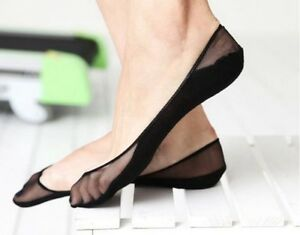 4-Pairs-Women-Cotton-Lace-Antiskid-Invisible-Liner-No-Show-Low-Cut-Ankle-Socks