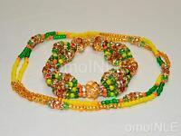 Ilde Santeria Ifa Orisha Bracelet & Collar Idde Mazo Oshun Ololodi Glass & Coral