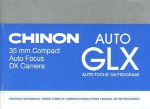 Chinon Auto GLX Instruction Manual multi-language