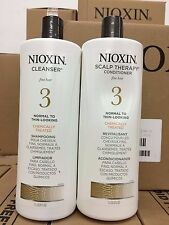 Nioxin System 3 Cleanser Liter 33.8 oz & Scalp Therapy Liter 33.8 oz Duo Set