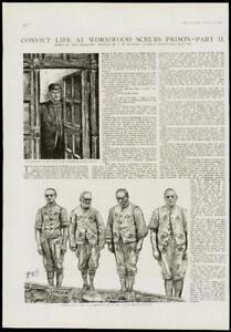 1889-Antique-Print-LONDON-WORMWOOD-SCRUBS-PRISON-PRISONERS-ENTRANCE-125