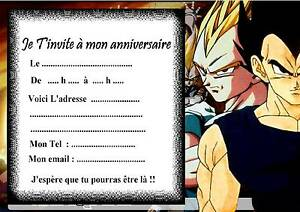 5 cartes invitation anniversaire dragon ball z 02 manga ebay - Dragon images gratuites ...
